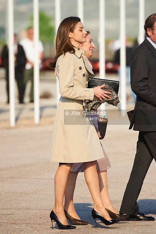 King Felipe VI of Spain, Queen Letizia of Spain departed for an official visit to Japan at Adolfo Suarez Madrid Barajas Airport on April 3, 2017 in Madrid, Spain