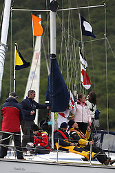 The Silvers Marine Scottish Series 2014, organised by the  Clyde Cruising Club,  celebrates it's 40th anniversary.<br /> Day 2 Race committee<br /> Racing on Loch Fyne from 23rd-26th May 2014<br /> <br /> Credit : Marc Turner / PFM