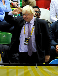 Mayor of London, Boris Johnson salutes - Photo mandatory by-line: Joe Meredith/JMP - Mobile: 07966 386802 - 12/09/2014 - The Invictus Games - Day 2 - Wheelchair Rugby - London - Copper Box Arena