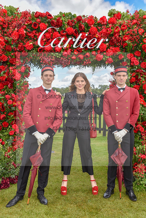Morgane Polanski at the Cartier Queen's Cup Polo 2019 held at Guards Polo Club, Windsor, Berkshire. UK 16 June 2019. <br /> <br /> Photo by Dominic O'Neill/Desmond O'Neill Features Ltd.  +44(0)7092 235465  www.donfeatures.com