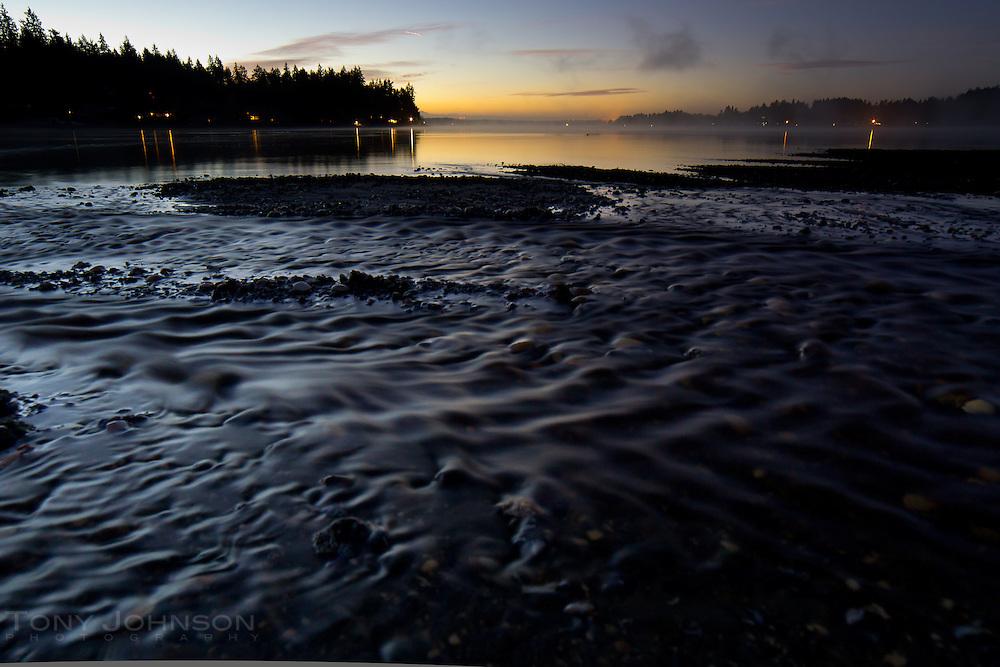 fresh water from the Schel-Chelb Estuary flows into Rich Passage on the Bainbridge Island shoreline