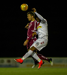 Arbroath's Danny Denholm and Airdrie's Joao Victoria. Airdrie 0 v 1 Arbroath, Scottish Football League Division One played 15/12/2018 at Airdrie's Excelsior stadium.