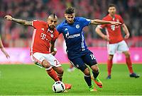 v.l. Arturo Vidal (Bayern), Daniel Caligiuri<br /> Muenchen, 04.02.2017, Fussball Bundesliga, FC Bayern München - FC Schalke 04 1:1<br /> <br /> Norway only