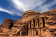 The Monastery. The Nabatean tombs of Petra, Jordan, were taken over by the Romans as they lay on the old frankincense trade routes