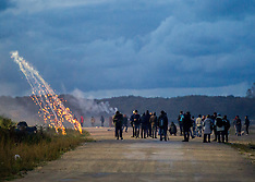 France: Rioting in the Calais Jungle, 22 Oct. 2016