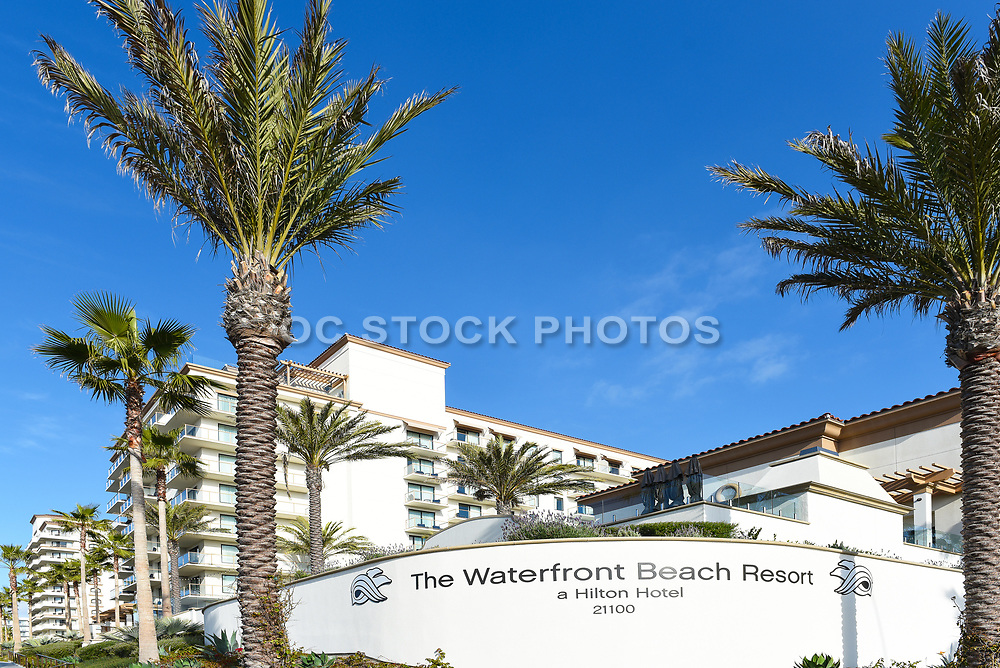 The Hilton Waterfront Beach Resort and Monument Signage
