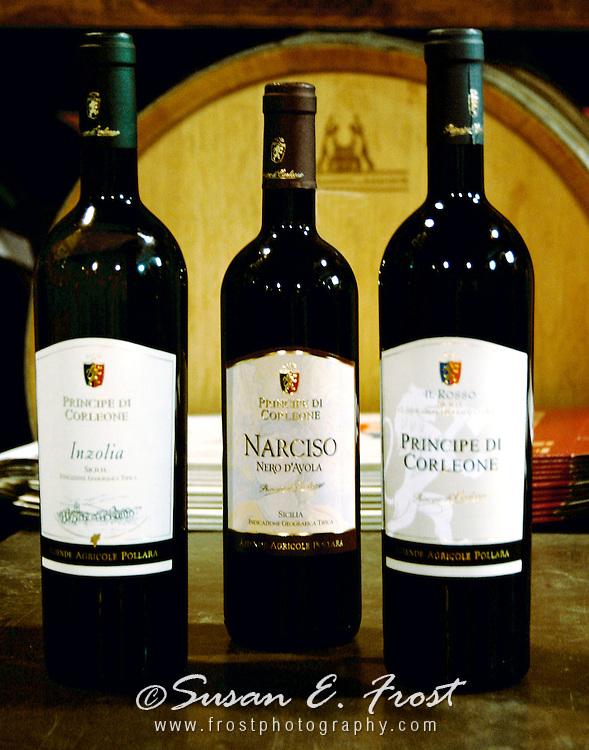 Narciso Nero d'avola wine from Corleone, Italy.