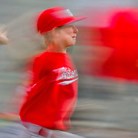 National's pitcher Kaidyn Dearnley pitches during the Pee Wee Reese Baseball Championship between the Nationals and Cardinals on Thursday at Ford Canyon Park in Gallup.