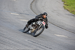 EBay Jake on the track at Billy Lane's Sons of Speed vintage motorcycle racing during Biketoberfest. Daytona Beach, FL, USA. Saturday October 21, 2017. Photography ©2017 Michael Lichter.