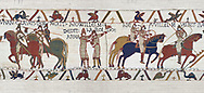 Bayeux Tapestry Scene 21 - Harold id Knighted by Duke William, BYX21