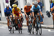 Men Road Race 230,4 km, MathIeu Van der Poel (Netherlands), Wout Van Aert (Belgium), during the Cycling European Championships Glasgow 2018, in Glasgow City Centre and metropolitan areas, Great Britain, Day 11, on August 12, 2018 - Photo Luca Bettini / BettiniPhoto / ProSportsImages / DPPI - Belgium out, Spain out, Italy out, Netherlands out -