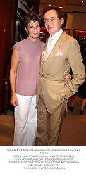 NICK & ALEX FOULKES at a party in London on 3rd June 2003.PKB 10