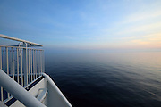 pastoral view from ship over the Mediterranean sea