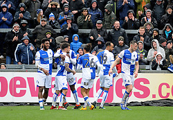 Bristol Rovers celebrate the goal from Dom Telford - Mandatory by-line: Neil Brookman/JMP - 30/03/2018 - FOOTBALL - Memorial Stadium - Bristol, England - Bristol Rovers v Bury - Sky Bet League One