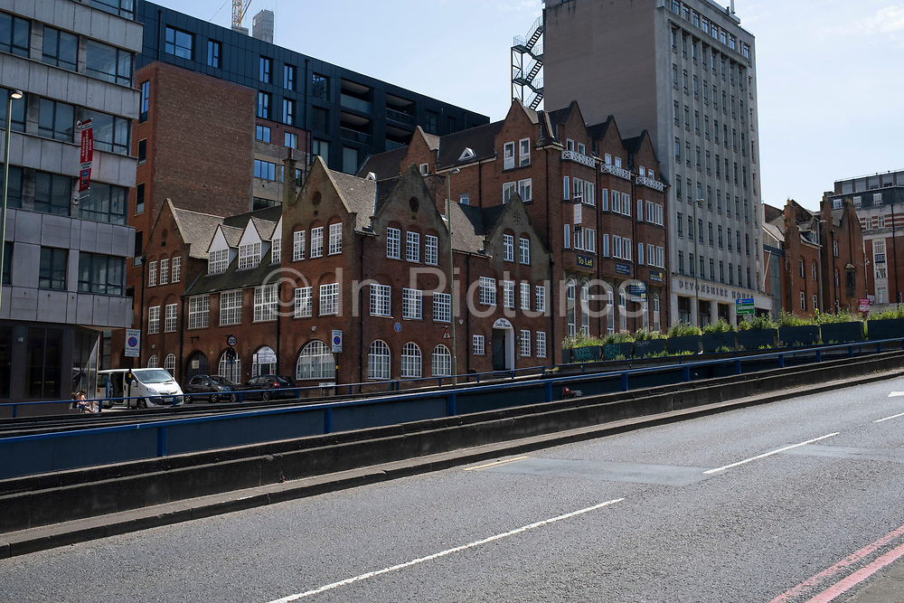 Empty streets near Paradise Circus as the Coronavirus lockdown continues, the city centre is still very quiet while more traffic and people are returning, and with restrictions due to be relaxed further in the coming days, the quiet city may be coming to an end as businesses are set to start to reopen soon on 27th May 2020 in Birmingham, England, United Kingdom. Coronavirus or Covid-19 is a respiratory illness that has not previously been seen in humans. While much or Europe has been placed into lockdown, the UK government has put in place more stringent rules as part of their long term strategy, and in particular social distancing.