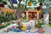 The internal garden of the Wynn and Encore Hotels and resorts, Las Vegas, Nevada.