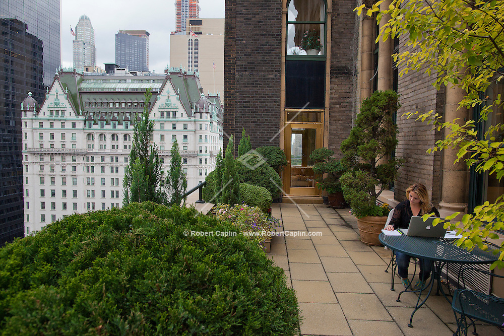 The 18th floor penthouse apartment at the Sherry Netherland Building in New York is listed for sale for $95 million.  ..Photo by Robert Caplin