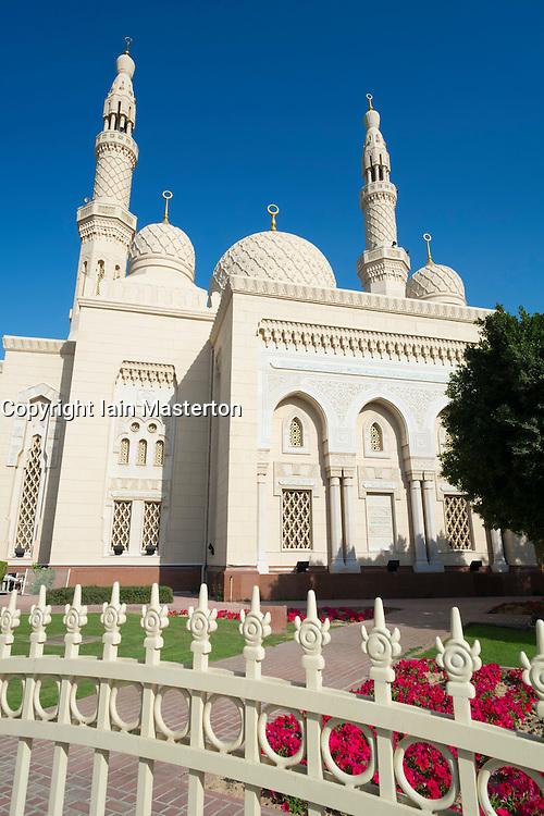 Jumeirah Grand Mosque in Dubai United Arab Emirates
