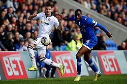 Dorian Dervite of Bolton Wanderers and Michael Ngoo of Oldham Athletic - Mandatory by-line: Matt McNulty/JMP - 15/04/2017 - FOOTBALL - Boundary Park - Oldham, England - Oldham Athletic v Bolton Wanderers - Sky Bet League 1