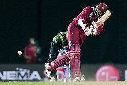 © Licensed to London News Pictures. 05/10/2012. West Indian Chris Gayle batting during the World T20 Cricket Mens Semi Final match between Australia Vs West Indies at the R Premadasa International Cricket Stadium, Colombo. Photo credit : Asanka Brendon Ratnayake/LNP