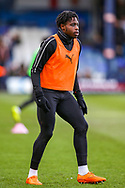 Luton Town midfielder Pelly-Ruddock Mpanzu warms up before the EFL Sky Bet League 1 match between Luton Town and Wycombe Wanderers at Kenilworth Road, Luton, England on 9 February 2019.