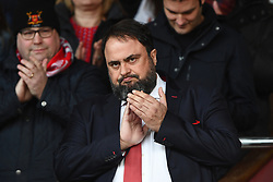 March 9, 2019 - Nottingham, England, United Kingdom - Nottingham forest owner Evangelos Marinakis applauds the Forest supporters during the Sky Bet Championship match between Nottingham Forest and Hull City at the City Ground, Nottingham on Saturday 9th March 2019. (Credit Image: © Jon Hobley/NurPhoto via ZUMA Press)