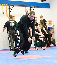 Students of Krav Maga take part in the Civilian Instructors Course (CIC) Part 1, with instructor Haim Sasson, at the Scottish Martial Arts Centre, Alloa, Scotland UK.©2010 Michael Schofield. All Rights Reserve