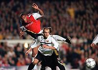 Thierry Henry (Arsenal) Hennadii Zubov (FC Shakhar Donetsk). Arsenal 3:2 FC Shakhar Donetsk, UEFA Champions League, Group B, 20/9/2000. Credit Colorsport / Stuart MacFarlane