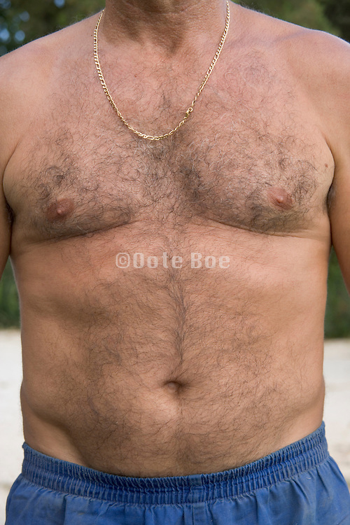 torso of a just under middle aged male