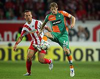 Fotball<br /> Bundesliga Tyskland<br /> 27.10.2006<br /> Foto: Witters/Digitalsport<br /> NORWAY ONLY<br /> <br /> v.l. Nikolce Noveski, Aaron Hunt Werder<br /> Bundesliga FSV Mainz 05 - SV Werder Bremen