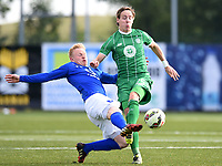 22/07/15 UEFA CHAMPIONS LEAGUE QUALIFIER 2ND LEG<br /> STJARNAN v CELTIC <br /> STJORUVOLLUR - ROMANIA <br /> Stjarnan's Thorri Geir Runarsson (left) battles with Celtic's Stefan Johansen