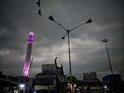 June 19, 2017 - Kolkata, West Bengal, India - Dense cloud formed just before it rained heavily. Kolkata was suffering very humid temperatures for a few weeks. (Credit Image: © Indranil Aditya/Pacific Press via ZUMA Wire)