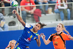 10-12-2014 CRO: EHF EK Nederland - Zweden, Varazdin<br /> Jamina Roberts #8 of Sweden and Nycke Groot #17 during handball match between Netherlands and Sweden at 11th EHF European Women's Handball Championship Hungary-Croatia 2014<br /> *** USE NETHERLANDS ONLY ***