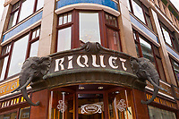 Art nouveau exterior (Jungendstil), Riquet Stadtcafe (coffee house), Leipzig, Saxony, Germany