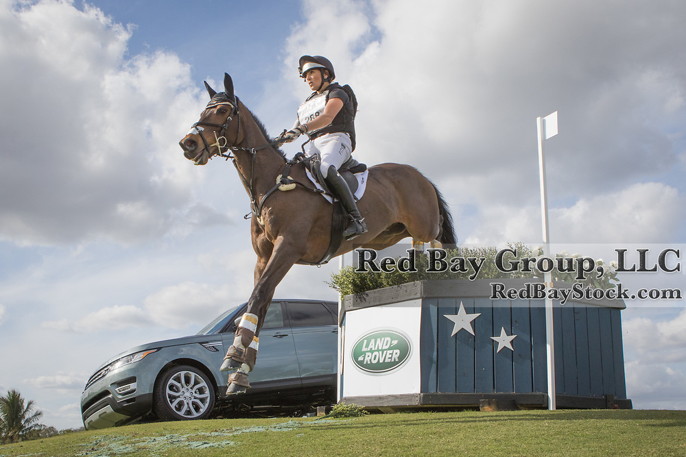 Laine Ashker (USA) and Anthony Patch at the Wellington Eventing Showcase in Wellington, Florida.