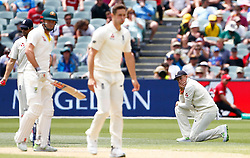 England's Joe Root react in the field during day four of the Ashes Test match at the Adelaide Oval, Adelaide.