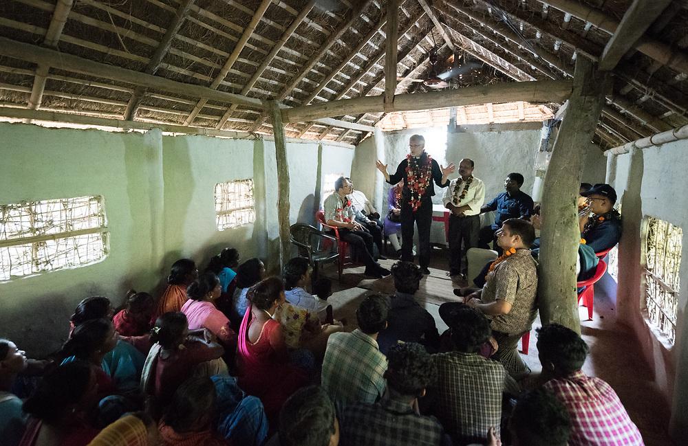15 September 2018, Hoklabari Village, Morang district, Nepal: On 15 September, LWF general secretary Rev. Dr Martin Junge visited the Bisanpur Church, the oldest congregation of the Nepal Evangelical Lutheran Church, established in 1943.