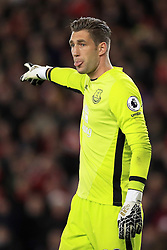 """Everton goalkeeper Maarten Stekelenburg during the Premier League match at St Mary's Stadium, Southampton. PRESS ASSOCIATION Photo. Picture date: Sunday November 27, 2016. See PA story SOCCER Southampton. Photo credit should read: Adam Davy/PA Wire. RESTRICTIONS: EDITORIAL USE ONLY No use with unauthorised audio, video, data, fixture lists, club/league logos or """"live"""" services. Online in-match use limited to 75 images, no video emulation. No use in betting, games or single club/league/player publications."""