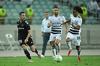 Marko Vesovic (29) of Qarabag FK fights for the ball with Tomas Travares (30) of FC Basel  during the UEFA Europa Conference League group H match between Qarabag FK and FC Basel at  on September 16, 2021 in Baku, Azerbaijan.