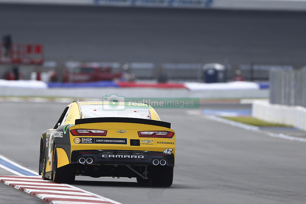 September 27, 2018 - Concord, North Carolina, United States of America - Justin Marks (42) races down the back straightaway during practice the Drive for the Cure 200 at Charlotte Motor Speedway in Concord, North Carolina. (Credit Image: © Chris Owens Asp Inc/ASP via ZUMA Wire)