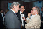 KONRAD BERNHEIMER; JACK KILGORE; GIOVANNI SARTI, Drinks party to launch this year's Frieze Masters.Hosted by Charles Saumarez Smith and Victoria Siddall<br />  Academicians' room - The Keepers House. Royal Academy. Piccadilly. London. 3 July 2014