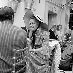 TINA ONASSIS 2nd wife of the 11th Duke of Marlborough at a party in Ascot in June 1969.