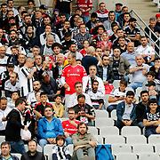 Besiktas's supporters during their Turkish Super League soccer match Besiktas between Medipol Basaksehir FK at the Ataturk Olimpiyat stadium in Istanbul Turkey on Sunday, 13 September 2015. Photo by Kurtulus YILMAZ/TURKPIX