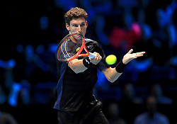 Pablo Carreno Busta in action during day four of the NITTO ATP World Tour Finals at the O2 Arena, London.