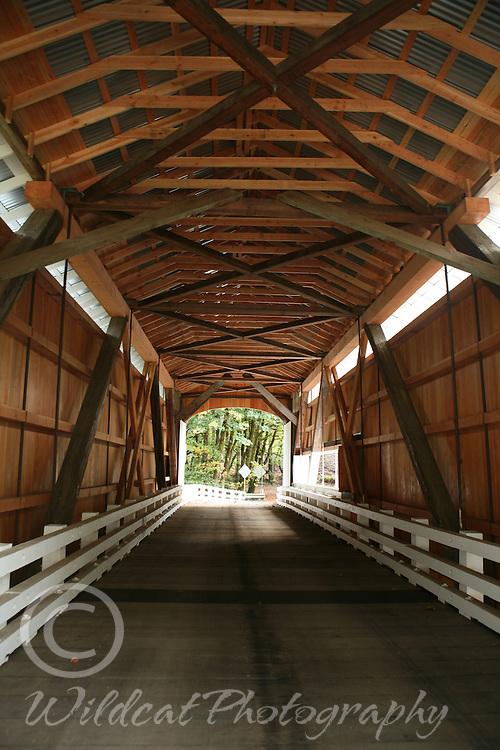 Wildcat Bridge rebuilt inside