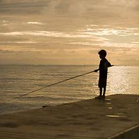 Fare, Huahine, French Polynesia, fishing