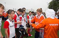 ABCOUDE - VOLVO JUNIOR CUP hockey . Abcoude C1 ,en Heerhugowaard  strijden in Abcoude om de cup. Heerhugowaard wint met 3-1. De teams werden gesteund door spelers van Jong Oranje. COPYRIGHT KOEN SUYK