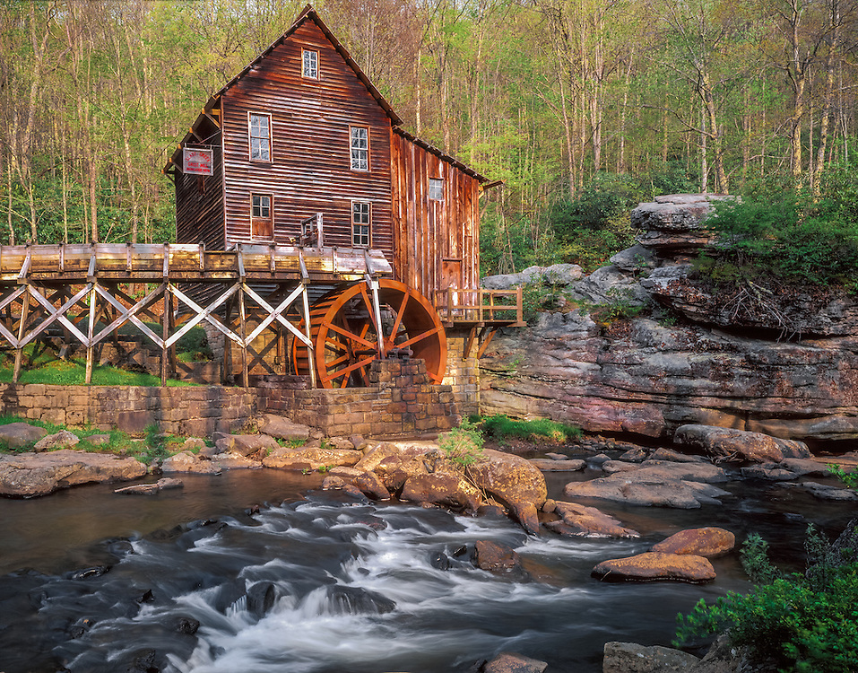 Glade Creek Gristmill and spring greens, Babcock State Park, WV