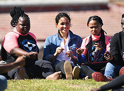 Duke and Duchess of Sussex visiting Monwabisi Beach, to learn about the work of 'Waves for Change', an NGO which fuses surfing with evidence-based mind and body therapy to provide a child-friendly mental health service to vulnerable young people living in challenging communities. They also saw the work of The Lunchbox Fund, a charity that provides nearly 30,000 nutritious meals every day to Waves for Change programmes and schools in South Africa's townships and rural areas., Cape Town, South Africa. Photo credit should read: Doug Peters/EMPICS