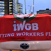 Independent Workers Union of Great Britain 98% of them are Asian protest against TFl congestion charge racist attacks on the minority trying to earn a honest living from £200 annual and in April 2019 will rise to £4000 on 4 Feb 2019, on London, Bridge, UK.
